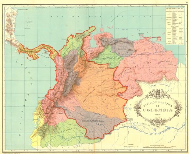 Карта владений товарища Боливара