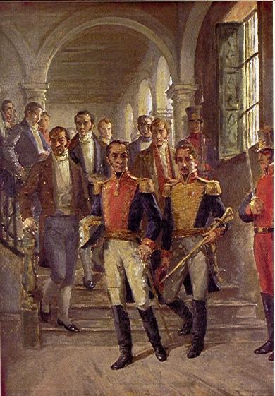 Встреча товарища Боливара и товарища Сен-Мартина