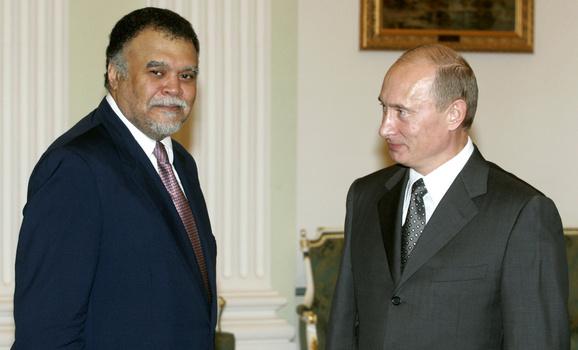 Бандар и Путин во время встречи в 2007 году.
