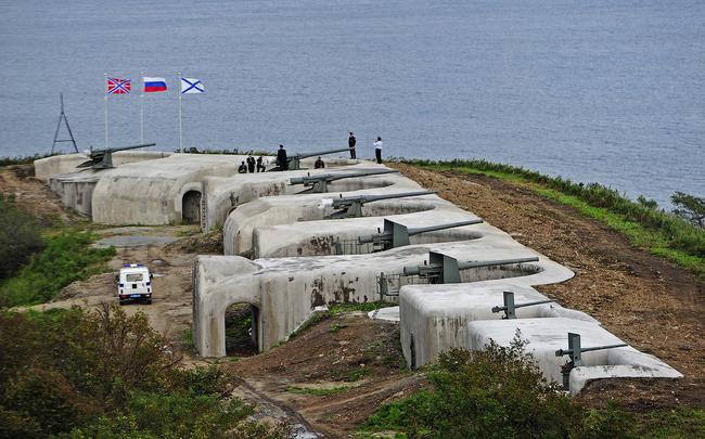 Реставрированная Новосильцевская батарея.
