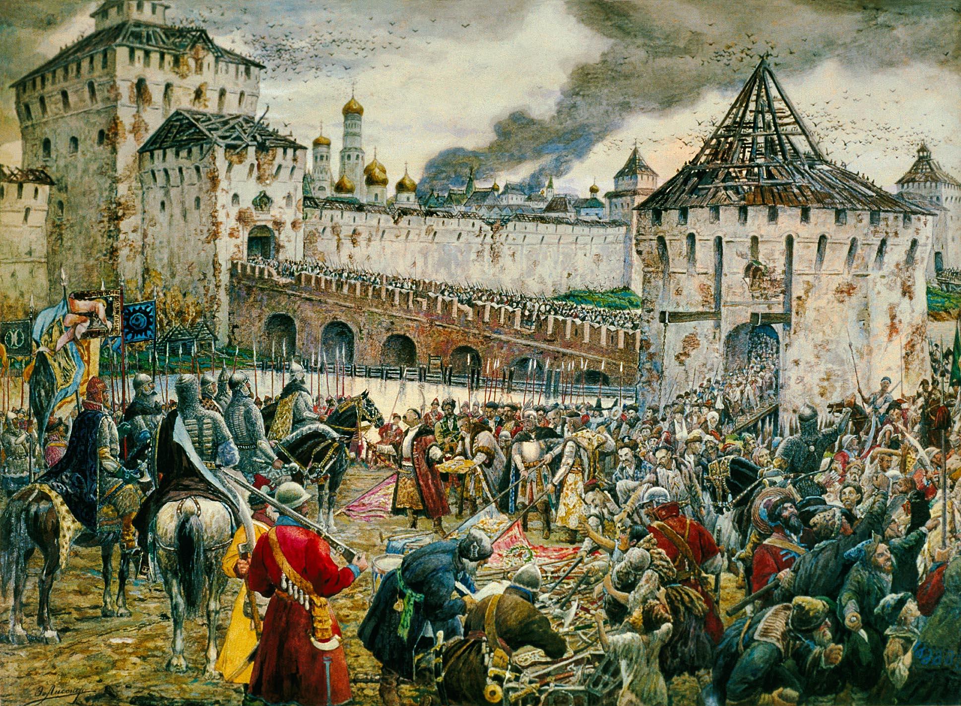 Оставшиеся в живых путинцы сдают Кремль русским.