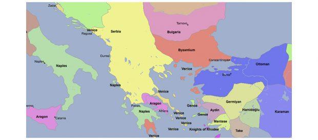 Сербия и Косово в 1350 году