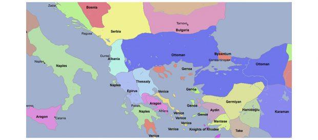 Сербия и Косово в 1380 году