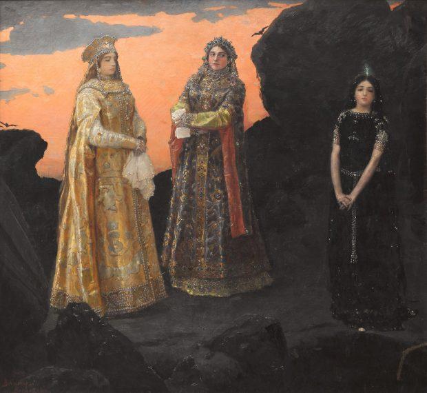 Три царевны подземного царства (1881). Картина-аллегория, олицетворяющая богатство недр русского Донбасса